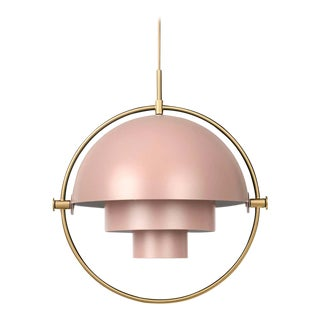 Louis Weisdorf 'Multi-Lite' Pendant Lamp in Rose For Sale