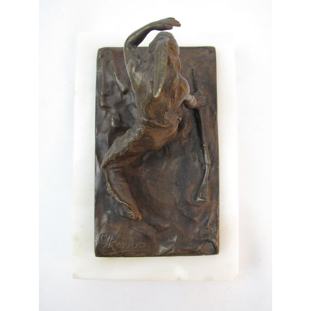 19th Century American Indian Bronze Sculpture by Carl Kauba For Sale - Image 4 of 7