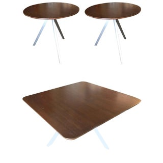 Tripod Leg Side Table and Coffee Table Set For Sale