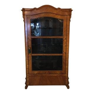 19th - Century Biedermeier Glass - Front Vitrine For Sale