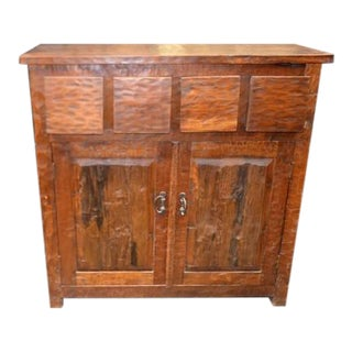 Antique Indian Teak Cabinet For Sale