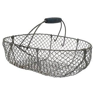 Vintage French Oyster Basket For Sale