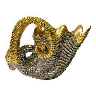 Ceramic Ram's Head Decorative Dish