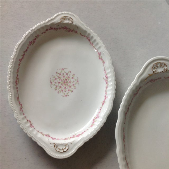 Austrian White & Pink Rose Platters - Set of 3 - Image 7 of 11