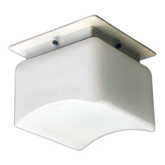 Lumenform White Opaline Semi-Flush Light For Sale