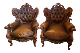 Image of Victorian Wingback Chairs