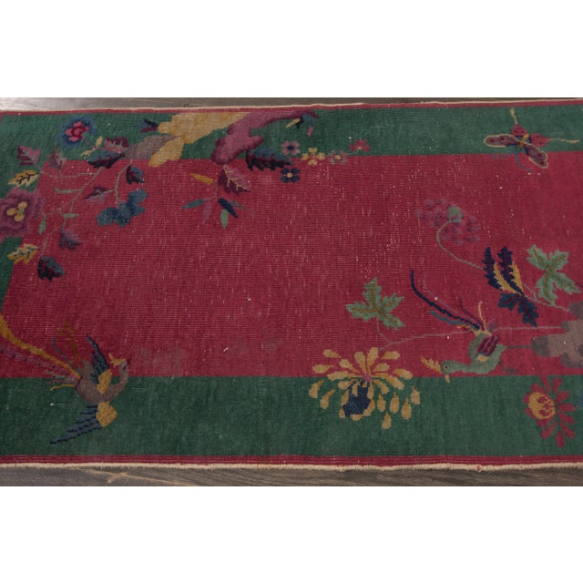 "Apadana Antique Chinese Deco Rug - 2'4"" x 4'4"" - Image 5 of 7"