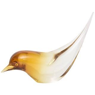 Elio Raffaeli Murano Glass Bird For Sale