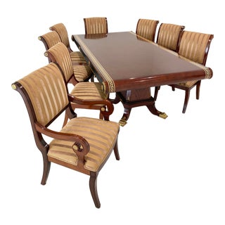 Custom Furniture Builders Versace Style Dining Set-Set of 9 For Sale
