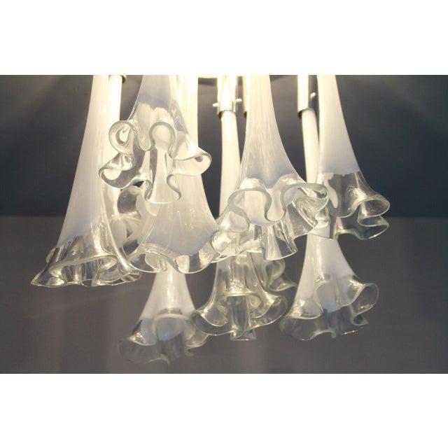 1970s Venini Murano Glass Flush Mount Chandelier, Italy, Circa 1970s For Sale - Image 5 of 13
