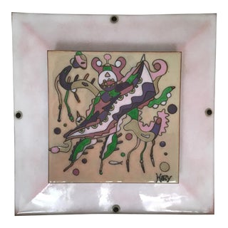 Helen Hery Mid-Century Modern Cloisonné Enamel Copper Art For Sale