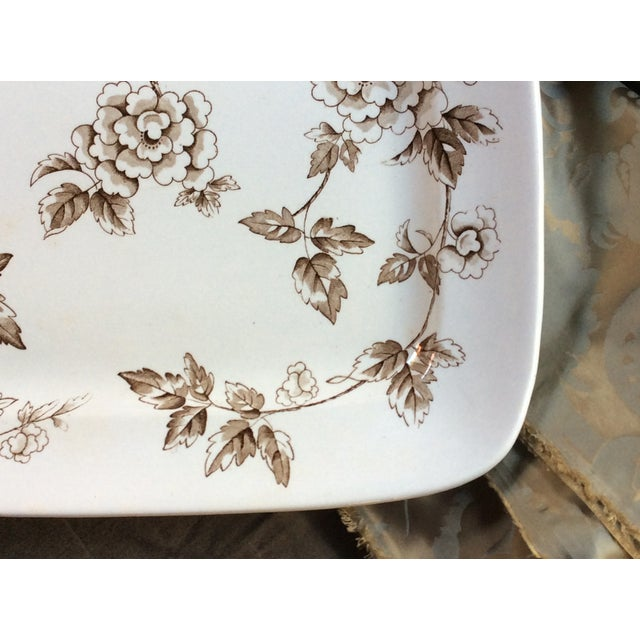 English Antique Large Staffordshire Transfer Ware Platter For Sale - Image 3 of 10