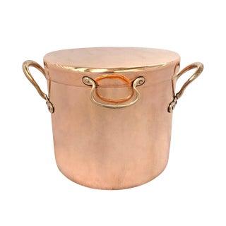 19th Century English Copper Daubière For Sale