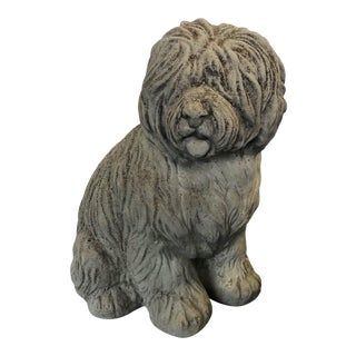 Stone Sheep Dog Garden Statue For Sale