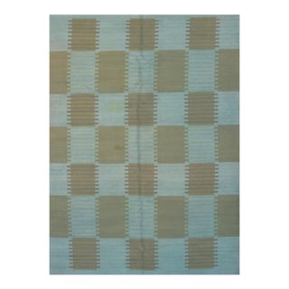 "Pasargad N Y Scandinavian Design New Zealand Overdyed Wool Rug - 7′3″ × 9'9"" For Sale"