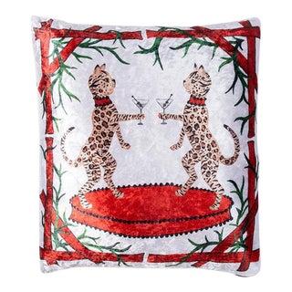 Crystal + Magic Crushed Velvet Pillow For Sale