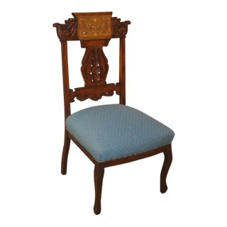 1940s Edwardian Style Side Chair For Sale