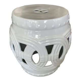 Crackled Finish Ceramic Ring Garden Stool
