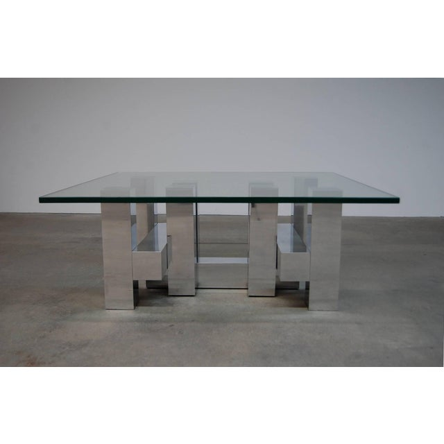 Incredible Large Architectural Coffee Table By Paul Mayen Decaso