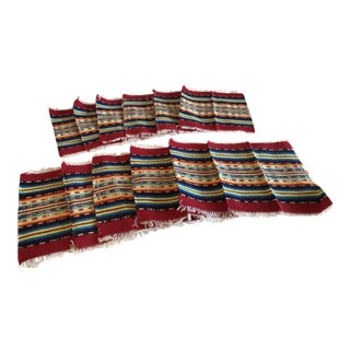 Vintage Woven Southwestern Coasters - Set of 12 For Sale