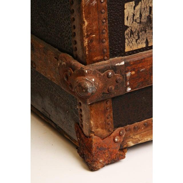 Antique Wood Steamer Trunk - Image 10 of 11