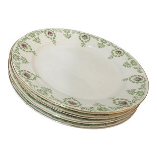 English Imperial Bone China Plates - Set of 4 For Sale