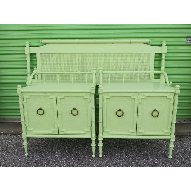 1950s Vintage Nightstands the Kensington Collection -A Pair For Sale - Image 12 of 12