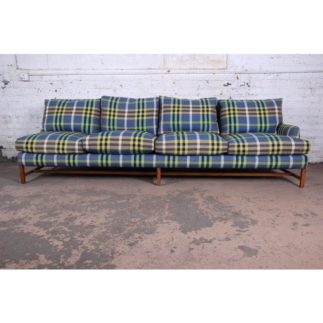 A. Rudin Down Filled Two-Piece Sectional Sofa in Plaid Upholstery For Sale In South Bend - Image 6 of 13