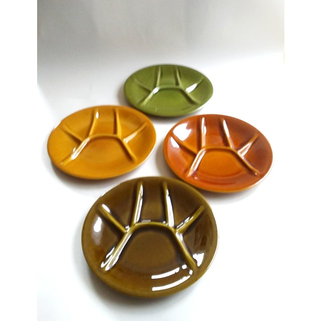 Boch Freres Keralux Divided Plates - Set of 4 For Sale - Image 9 of 10