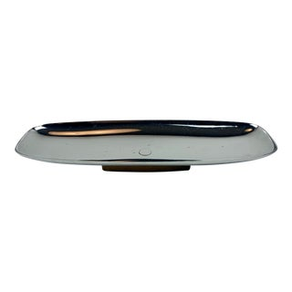 1960s Mid-Century Modern Chrome and Walnut Catchall by Milbern For Sale