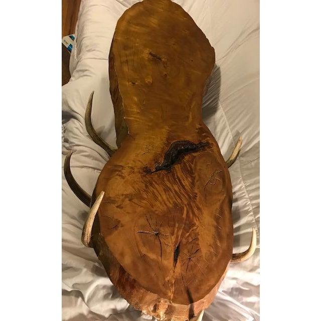 Brown Vintage Handmade Coffee Table For Sale - Image 8 of 10
