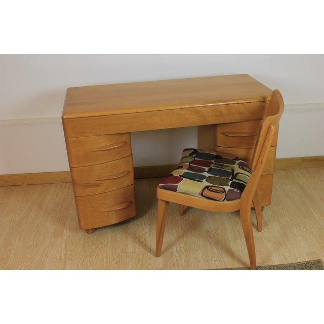 Heywood-Wakefield Kneehole Desk & Chair - Image 2 of 9