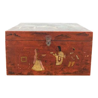 Indian Painted Wood Chest