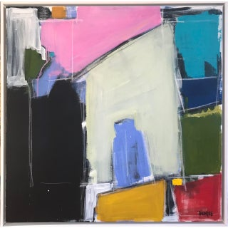 """Sarah Trundle, """"Vessels"""" Abstract Contemporary Framed Painting For Sale"""