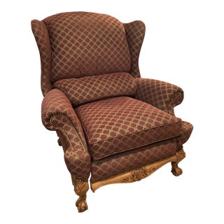 Hancock and Moore Wingback Recliner For Sale