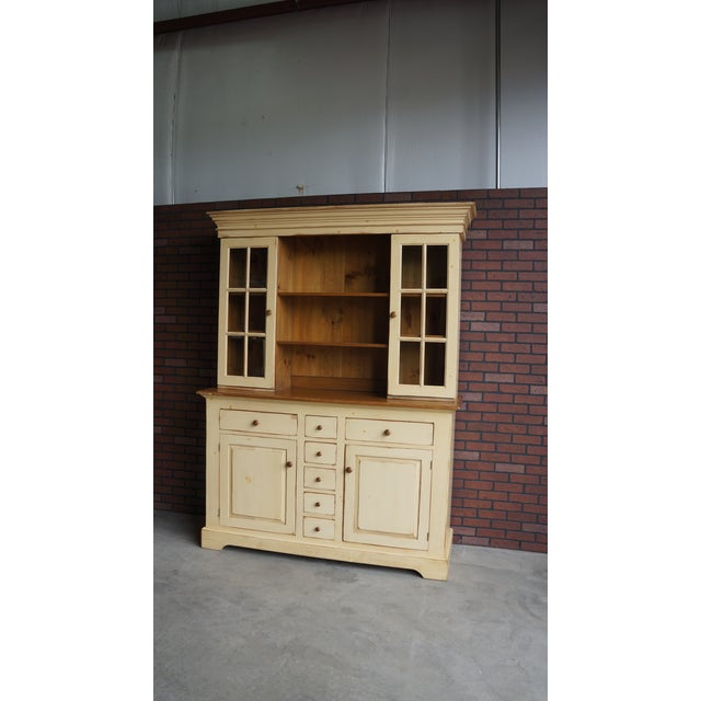 20th Century Cottage Farmhouse China Hutch For Sale - Image 11 of 11