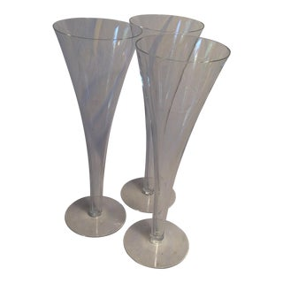 Vintage Crystal Tiffany And Company Champagne Flutes - Set of 3 For Sale