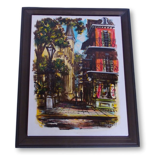 McCaffery Signed Cityscape New Orleans Painting - Image 2 of 8