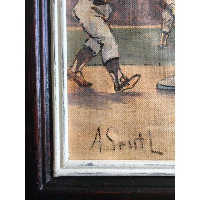 1950s Arthur Smith Baseball Watercolors From 'Baseball' Series - A Pair For Sale - Image 5 of 11