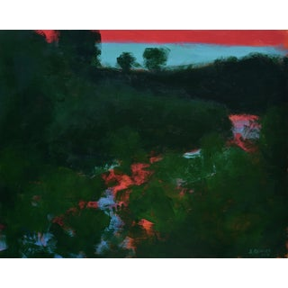 "2010s Abstract Painting, ""Sunset over the Mad River"" by Stephen Remick"