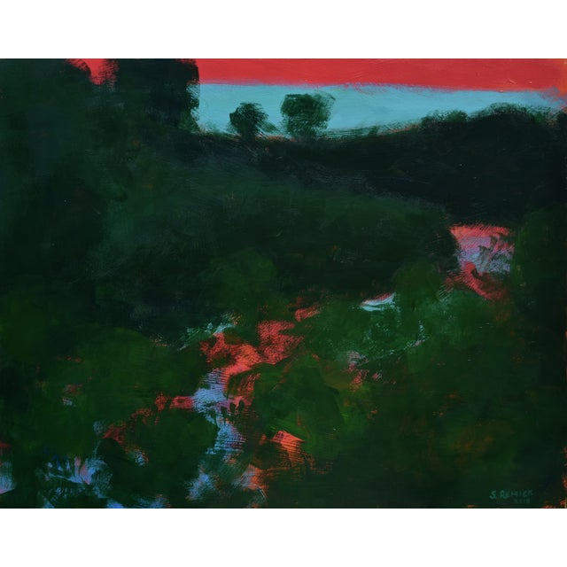 """Stephen Remick """"Sunset Over the Mad River"""" Contemporary Abstract Painting For Sale"""