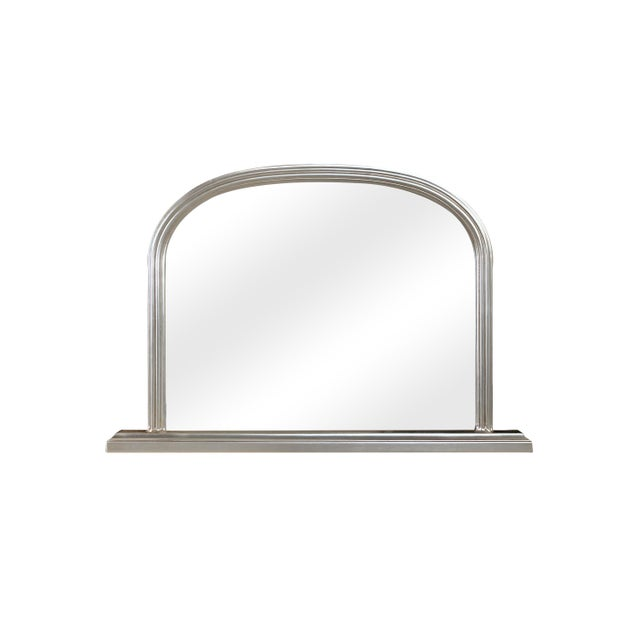 Lyon Beveled Arched Wood Frame Wall Mirror For Sale - Image 4 of 4