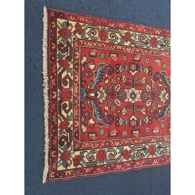 "Vintage Persian Lilihan Rug - 3'2""x6'5"" - Image 3 of 11"
