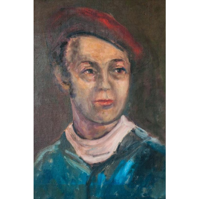 Vintage Gent Sailor Oil Painting on Board - Image 3 of 4