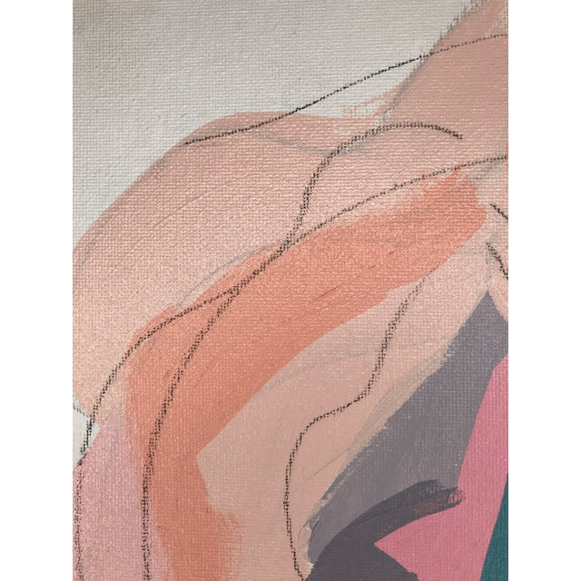 """Early 21st Century Contemporary Abstract Portrait Painting """"Don't Let Her Get Away"""" - Framed For Sale - Image 5 of 9"""