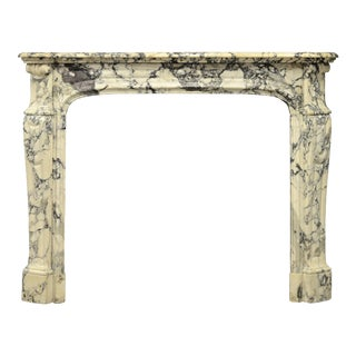 Paonazetto Pompadour Fireplace Mantel For Sale