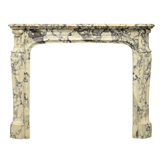 Paonazetto Pompadour Fireplace Mantel For Sale