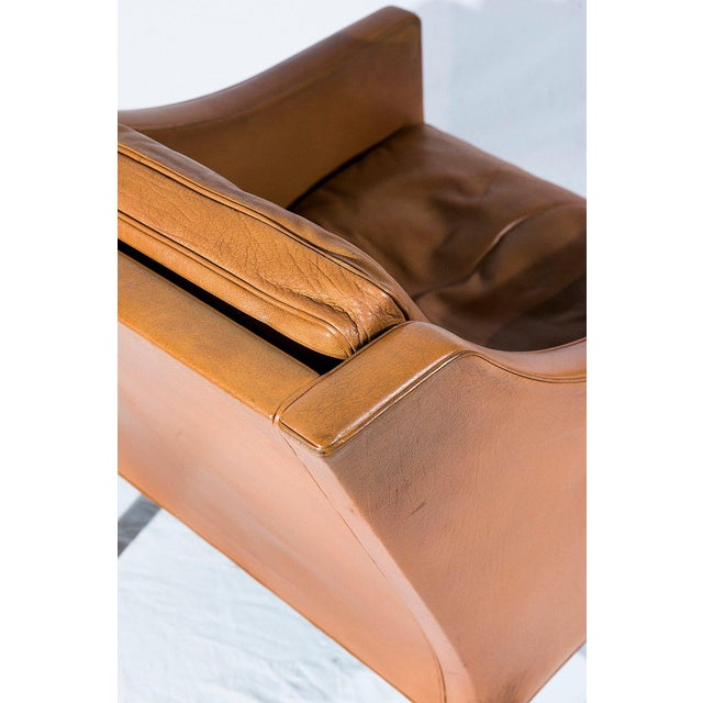 Wood Børge Mogensen Model No. 2207 Leather Lounge Chair For Sale - Image 7 of 9