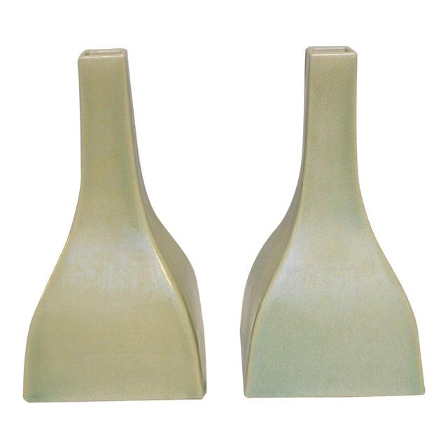 Celadon Vases A Pair Chairish