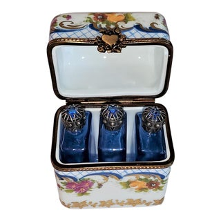 Vintage Limoges Perfume Box With Bottles For Sale